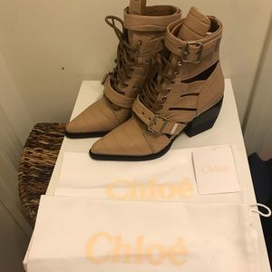 NEW Chloe 60MM Rylee Lace-Up Boot Sz. 10